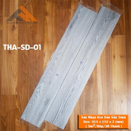 sàn nhựa keo dán 2mm giả gỗ tha-sd-01