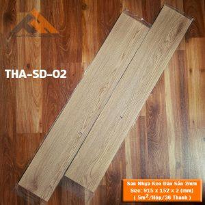 sàn nhựa keo dán 2mm giả gỗ tha-sd-02