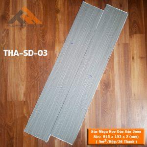 sàn nhựa keo dán 2mm giả gỗ ths-sd-03