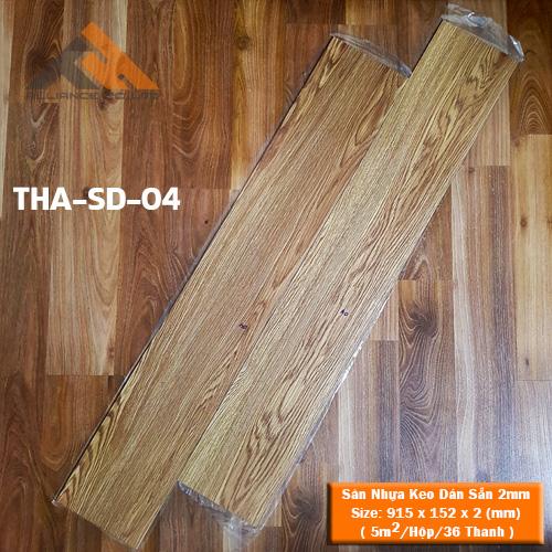 sàn nhựa keo dán 2mm giả gỗ tha-sd-04
