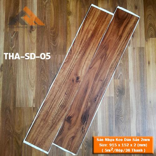 sàn nhựa keo dán 2mm giả gỗ tha-sd-05