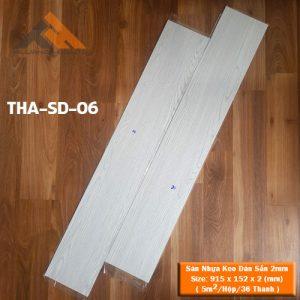 sàn nhựa keo dán 2mm giả gỗ tha-sd-06