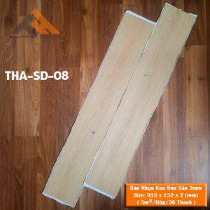sàn nhựa keo dán 2mm giả gỗ tha-sd-08