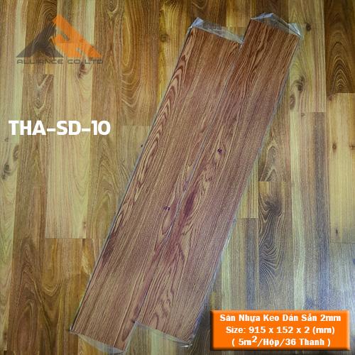 sàn nhựa keo dán 2mm giả gỗ tha-sd-10