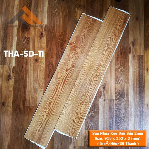 sàn nhựa keo dán 2mm giả gỗ tha-sd-11