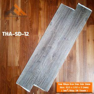 sàn nhựa keo dán 2mm giả gỗ -tha-sd-12