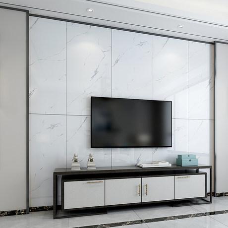 thay đổi không gian phòng khách với tấm nhựa giả đá ốp tường