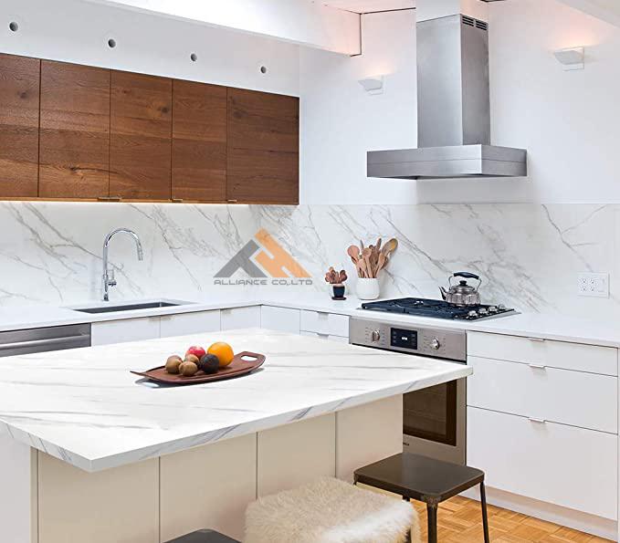 6 gợi ý ốp tường nhựa giả đá tấm nhựa giả đá ốp mặt dựng bếp quầy bar