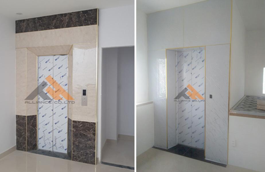 6 gợi ý ốp tường nhựa giả đá tấm nhựa giả đá ốp thang máy