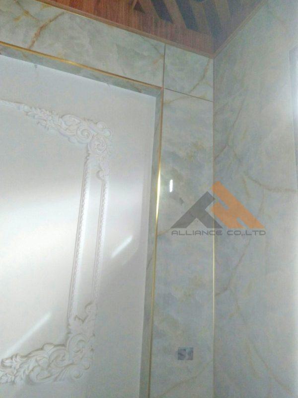 nẹp nhôm giá rẻ ốp tường nhựa kết hợp trang trí nẹp nhôm